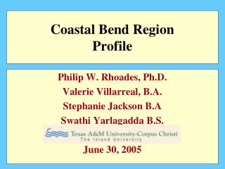 Coastal Bend and State Population % Distribution by Age Groups 2000