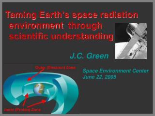 Taming Earth's space radiation environment  through scientific understanding