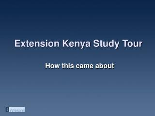 Extension Kenya Study Tour