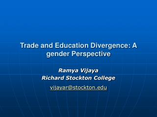 Trade and Education Divergence: A gender Perspective