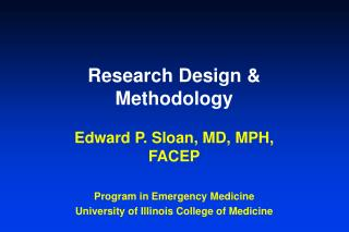 Research Design & Methodology
