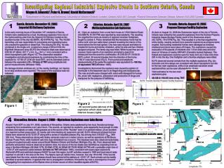 Investigating Regional Industrial Explosive Events in Southern Ontario, Canada