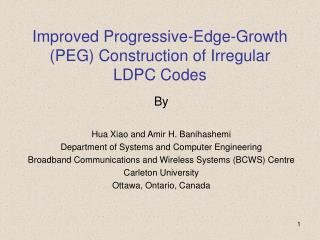 Improved Progressive-Edge-Growth (PEG) Construction of Irregular LDPC Codes