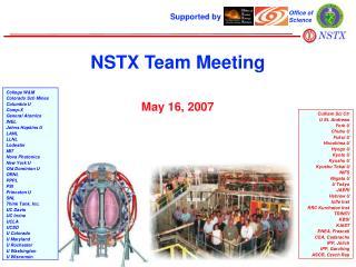 NSTX Team Meeting