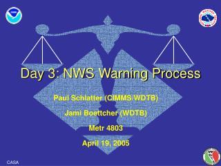 Day 3: NWS Warning Process