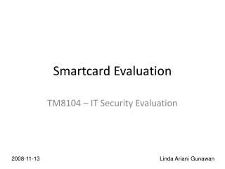 Smartcard Evaluation