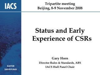 Tripartite meeting Beijing, 8-9 November 2008