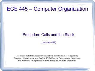 ECE 445 – Computer Organization