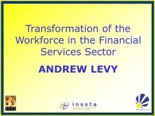 Transformation of the Workforce in the Financial Services Sector ANDREW LEVY