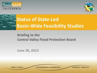 Status of State-Led  Basin-Wide Feasibility Studies