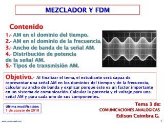 MEZCLADOR Y FDM