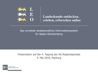 Das vernetzte landeskundliche Informationssystem f�r Baden-W�rttemberg