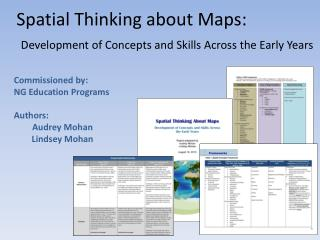 Spatial Thinking about Maps:  Development of Concepts and Skills Across the Early Years
