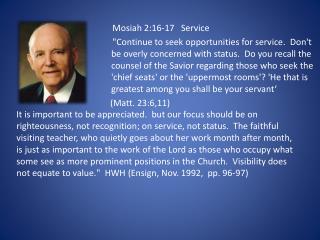 Mosiah 2:16-17 Service