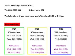 Email: jeeshan.gazi@rutc.ac.uk