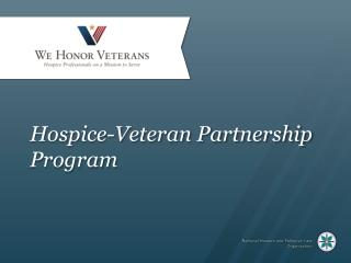 Hospice-Veteran Partnership Program