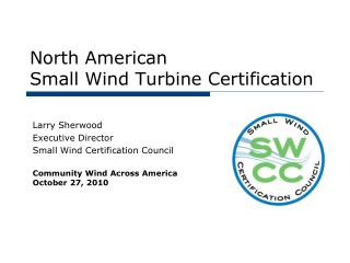 North American Small Wind Turbine Certification