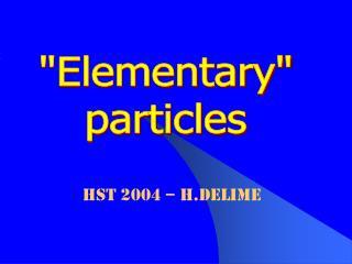 HST 2004 – H.Delime