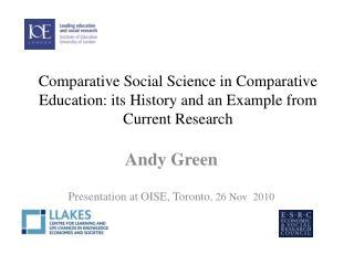 Andy Green  Presentation at OISE, Toronto , 26 Nov  2010