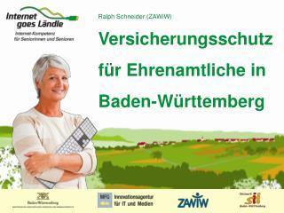 Versicherungsschutz für Ehrenamtliche in Baden-Württemberg