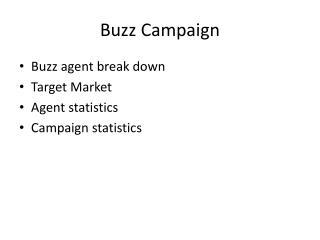 Buzz Campaign