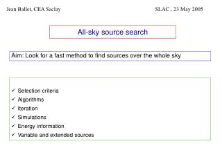 All-sky source search