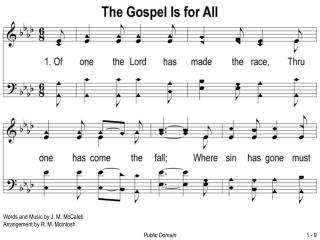 Words and Music by J. M. McCaleb Arrangement by R. M. McIntosh