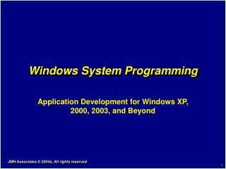 Windows System Programming