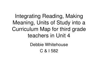 Debbie Whitehouse C & I 582
