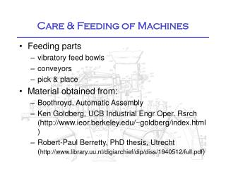 Care & Feeding of Machines