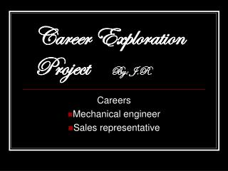 Careers Mechanical engineer  Sales representative
