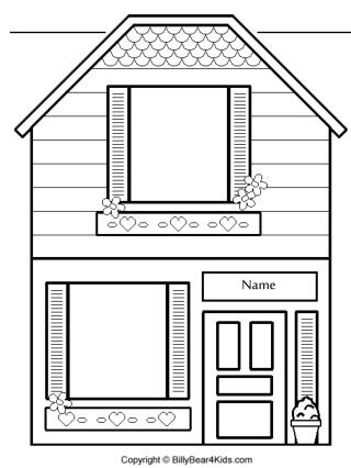 blackwhite house template PPT