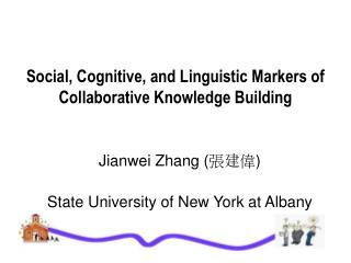 Social, Cognitive, and Linguistic Markers of Collaborative Knowledge Building