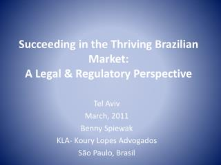 Succeeding in the Thriving Brazilian Market:  A Legal & Regulatory Perspective