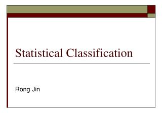 Statistical Classification