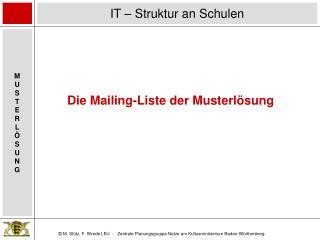Die Mailing-Liste der Musterlösung