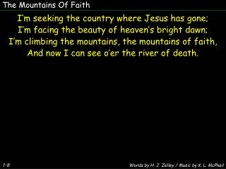 The Mountains Of Faith