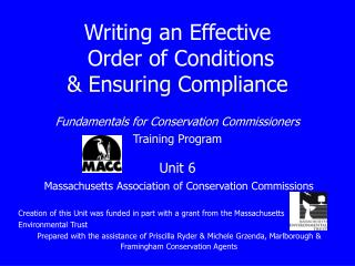 Massachusetts Association of Conservation Commissions