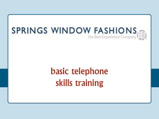basic telephone skills training