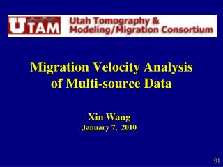Migration Velocity Analysis  of Multi-source Data