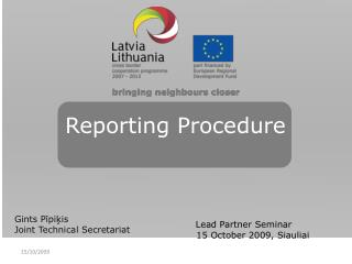 Reporting Procedure