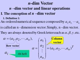 n - dim Vector