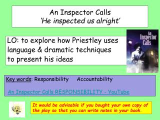 An Inspector Calls  'He inspected us alright'