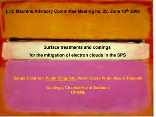 LHC Machine Advisory Committee Meeting no. 23 ,  June 13 th  2008