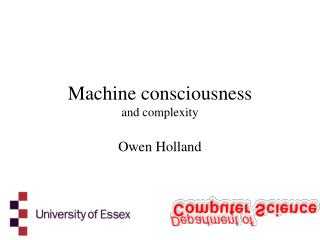 Machine consciousness and complexity