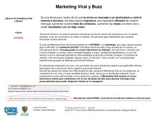 Marketing Viral y Buzz