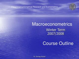 Winter Term 200 7 /200 8