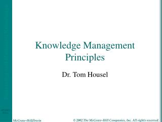 Knowledge Management Principles