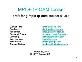 draft-fang-mpls-tp-oam-toolset-01.txt