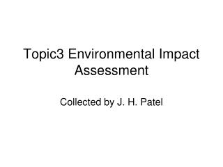 Topic3 Environmental Impact Assessment